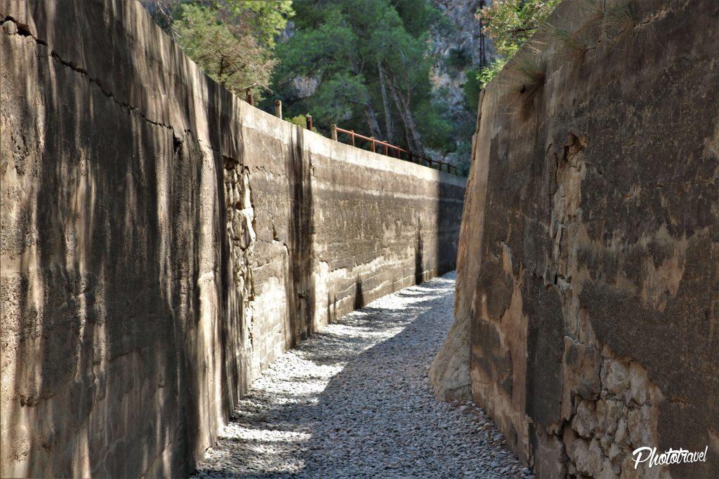 Caminito del Rey, viejo canal