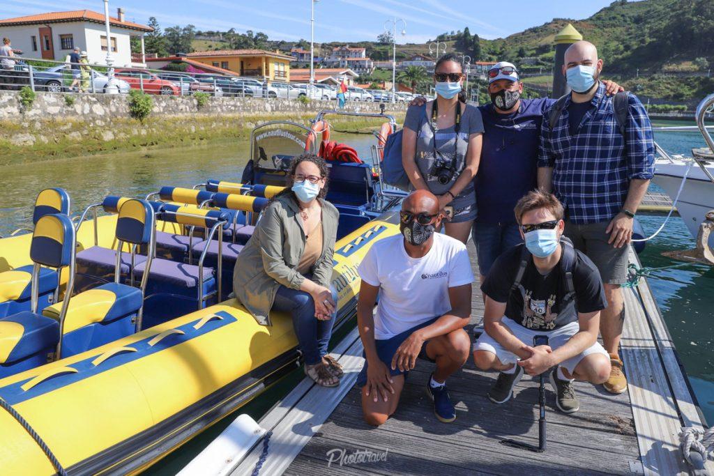 quipo Nautilus y parte de AsturiasTravelBloggers